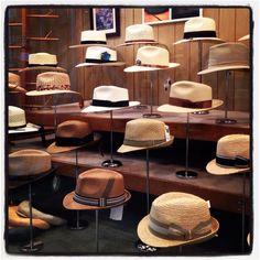 New Orleans Hat Store Hat Display, Hat Stores, Women's Hats, Hat Shop, Dress Hats, Store Design, Hats For Women, Sketching, Showroom