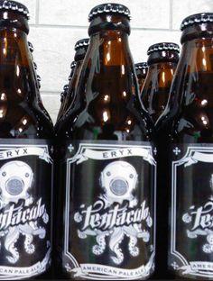 Cerveja Tentáculo Eryx, estilo American Pale Ale, produzida por  Cervejaria Caseira, Brasil. 4.5% ABV de álcool.