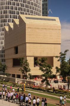 Art gallery Museo Jumex, Mexico City, designed by David Chipperfield Architects. The gallery showcases the largest private art collection in Latin America.