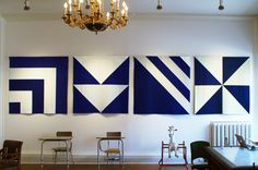 Flag Quilts by Lindsay Stead installed at the Mascot in Toronto, Canada