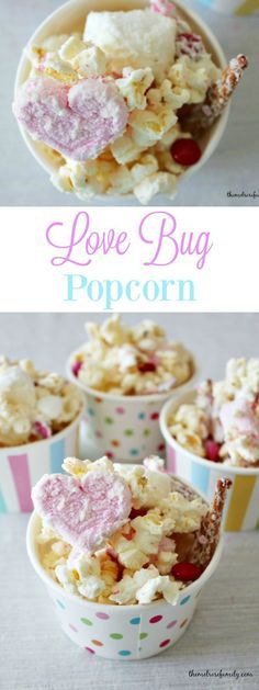 Love Bug Popcorn is the perfect snack idea for Valentine's Day