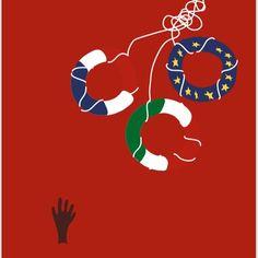 illustration #laureandrieux #immigration #aquarius #pressillustration #humanmadness #Le Monde - «Aquarius»