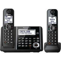 PANASONIC KX-TGF342B DECT 6.0 1.9 GHz Expandable Digital Cordless Phone System (2 Handsets)