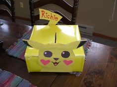 Pikachu Valentine Box Richie & I made today :)