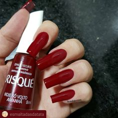 What Christmas manicure to choose for a festive mood - My Nails Long Red Nails, Blue Nails, My Nails, Acrylic Nail Designs, Acrylic Nails, Classy Nail Designs, Trendy Nail Art, Super Nails, Nagel Gel