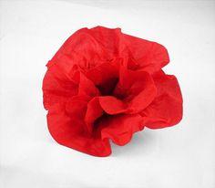 Felted Brooch Nunofelt Brooch DEEP RED brooch felt nuno flower nunofelt flower folk boho wool victorian fairy