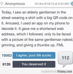 Today, I Saw An Elderly Gentelman...