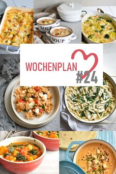 Weekly schedule # Varied recipe ideas for a week. - What is there to eat during the week? I have put together a whole week of delicious recipes for you - Easy Meal Prep, Healthy Meal Prep, Easy Meals, Healthy Recipes, Easy Cooking, Cooking Recipes, Big Meals, Meal Planning, Breakfast Recipes