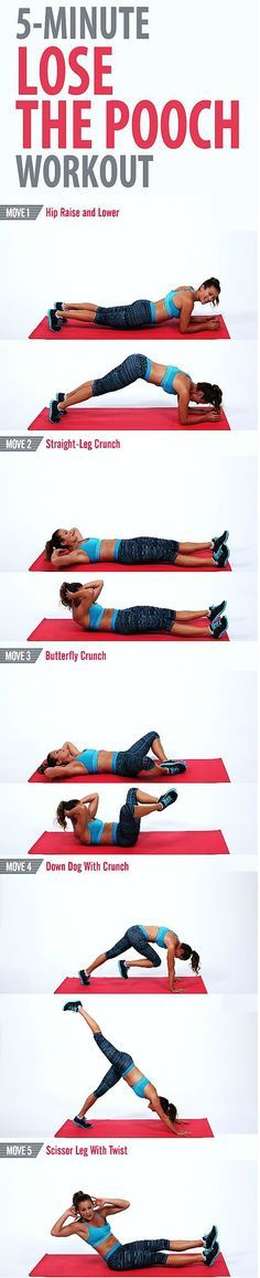 Get rid of the pooch and tighten up your lower abs with this quick workout. You…