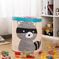 mignon raton laveur bébé sac d'entreposage propre jouet pépinière chambre panier organisateur.