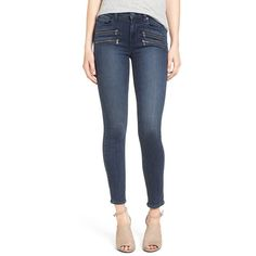 Women's Paige 'Edgemont' High Rise Skinny Jeans ($143) ❤ liked on Polyvore featuring jeans, shelby no whiskers, paige denim jeans, blue high waisted jeans, blue jeans, high-waisted jeans and skinny jeans