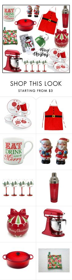 """Christmas Home Set"" by tlb0318 ❤ liked on Polyvore featuring interior, interiors, interior design, home, home decor, interior decorating, Spode, KitchenAid, Le Creuset and Kate Spade"