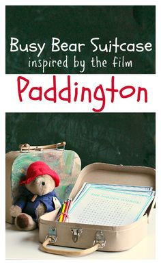 Check out the video in the post abou tthe new #PaddingtonMovie !   #PaddingtonMovie activity and printables. Cute travel idea for kids.