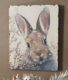 A wintry snow bunny from a Raz exclusive Whimsical Woodlands theme.