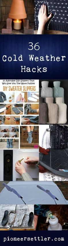 36 Cold Weather Hacks to Keep You Cozy This Winter | Preparedness Tips And Ideas by Pioneer Settler at pioneersettler.co...