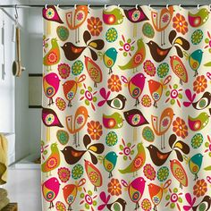 I pinned this Little Birds Shower Curtain from the Valentina Ramos event at Joss & Main!