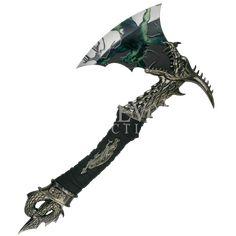 Dragon Head Fantasy Axe - MC-FM-537PL by Medieval Collectibles