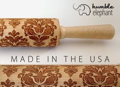 DAMASK | Patterned Laser Cut Embossing Rolling Pin