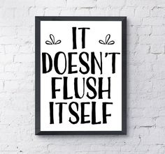 Funny bathroom wall art PRINTABLE instant by WhiteCloudPrintables