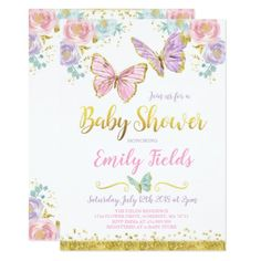Erfly Baby Shower Invitations