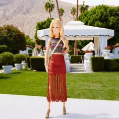 This fringe skirt screams festival fashion!  #coachella #barbie #barbiestyle