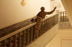 """htsflhssdmcu: """" TIKRIT, Iraq—In Saddam's hometown, a U. Marine slides down a marble handrail in one of the dictator's extravagant palaces. The residence contained carpets worth hundreds of thousands. Humor Militar, Brave, Mother Jones, Iraq War, Afghanistan War, Military Pictures, Military Humor, Military History, War Photography"""