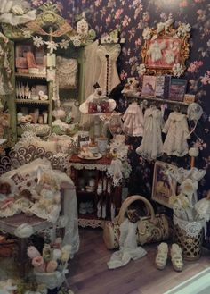 Lace Shop (jt-wonderful detail in this Lace Shop room box by Denise Morales - click through for more pics)