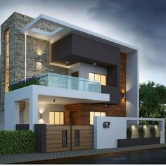 Home luxury exterior 21 Ideas for 2019 Modern House Facades, Modern Bungalow House, Modern Architecture House, Modern Houses, Architecture Interiors, Architecture Design, Best Modern House Design, Modern Exterior House Designs, Dream House Exterior