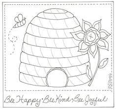 Bee Happy Stitchery~free pattern