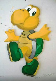 cc187ba4f5f Super Mario Bros KOOPA TROOPA wall art from Etsy shop