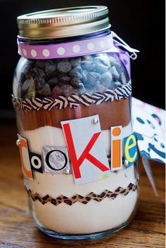 Gifts in a Jar Recipes {Creative and Fun Ideas!}- Did the Cowgirl cookies. super yummy. left out the pecans. everything but the white sugar fit in the jar. super cute!