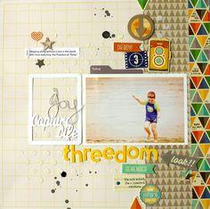 #papercraft #scrapbook #layout.  Mix the Media! threedom #jillibeansoup