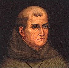 Blessed Junipero Serra, Franciscan priest who established missions throughout California.