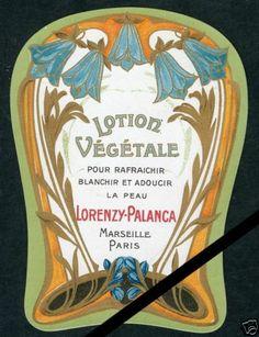 Antique Label Art Deco French Perfume Soap Lotion Lorenzy Palanca France | eBay