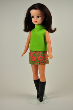 1968 Sindy Town & Country - Our Sindy Museum. Used to have this outfit, still have the black boots. #sindy