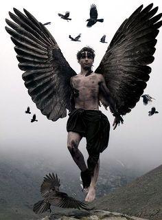 The Fallen Angels didn't fall, they lept. The Watchers trilogy by Janine Ashbless Dark Angels, Angels And Demons, Fallen Angels, Male Fallen Angel, Foto Fantasy, Fantasy Art, Art Beauté, Ange Demon, Dark Moon