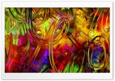 Abstract Circles Painting HD Wide Wallpaper for Widescreen