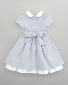 Anna Seersucker Dress Toddler Girl Outfits, Cute Outfits For Kids, Toddler Girl Style, Seersucker Dress, Vintage Girls Dresses, Little Girl Dresses, Baby Girl Dress Patterns, Dress Anak, Frocks For Girls