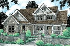 Elevation of Traditional   House Plan 97946