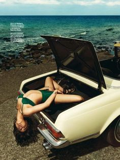 #beachlook #summerstyle #swimsuit #editorialshoot #fresh #greenbathingsuit #vintageswimsuit #vintagebikini