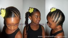 87 Cornrow Hairstyles for Black Women Ideas in 2019 - Street Style Inspiration Lil Girl Hairstyles, Natural Hairstyles For Kids, Princess Hairstyles, My Hairstyle, Natural Hair Styles, Short Hair Styles, Drawing Hairstyles, Toddler Hairstyles, Teenage Hairstyles