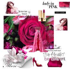 Designer Clothes, Shoes & Bags for Women Yves Saint Laurent, Burberry, Pink Ladies, Rose, Lady, Polyvore, Flowers, Design, Fashion