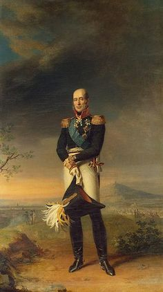 Painting of General Michael Andreas Barclay de Tolly (1761-1818) Russia by George Dawe Kruger in The Military Gallery of the Winter Palace in St. Petersburg, Russia. The gallery holds the portraits of those who took part in the Patriotic War of 1812.