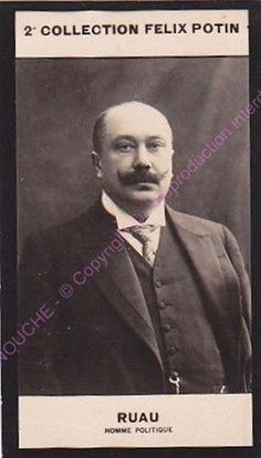 Chromo trade card Photo JOSEPH RUAU Politique France circa 1907