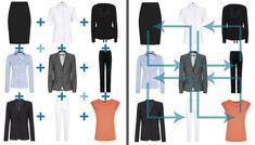 23 Ways to Wear 9 Pieces - Office Chic Minimalist Wardrobe