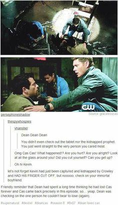 Dean your bi is showing