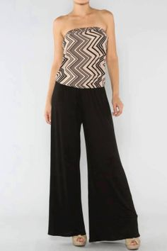 ladies chevron jumpsuit in Welcome to Juliananna's Boutique!