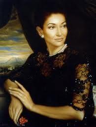 Painting of Maria Callas in La Scala