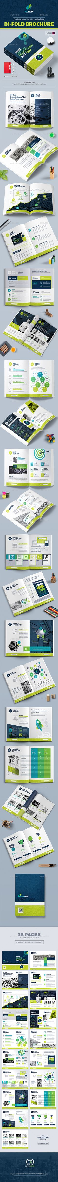 Bi-Fold Brochure Template for SEO (Search Engine Optimization) & Digital Marketing Agency / Company