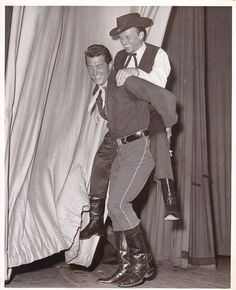 FRANK SINATRA DEAN MARTIN Original CANDID Western Costume Party Vintage 62 Photo